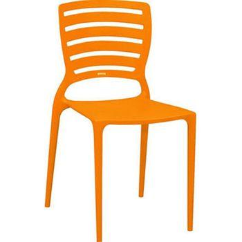 Cadeira Sofia Com Encosto Vazado Laranja Summa Tramontina