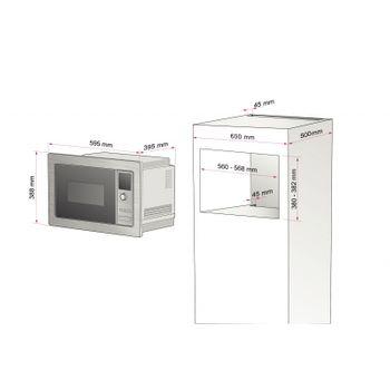 Micro-Ondas de Embutir em Aço Inox 6 Funções Glass 60 Tramontina