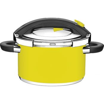 Panela de Pressão Inox Amarela Ø24Cm 6 Litros Presto Tramontina