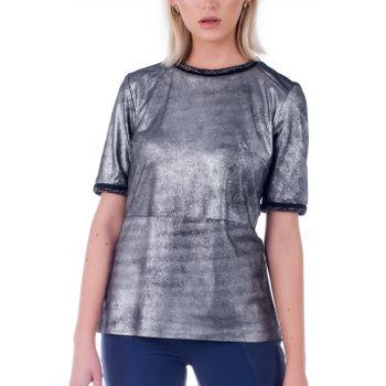 Camiseta Manga Curta com Ribana - Liziane Richter