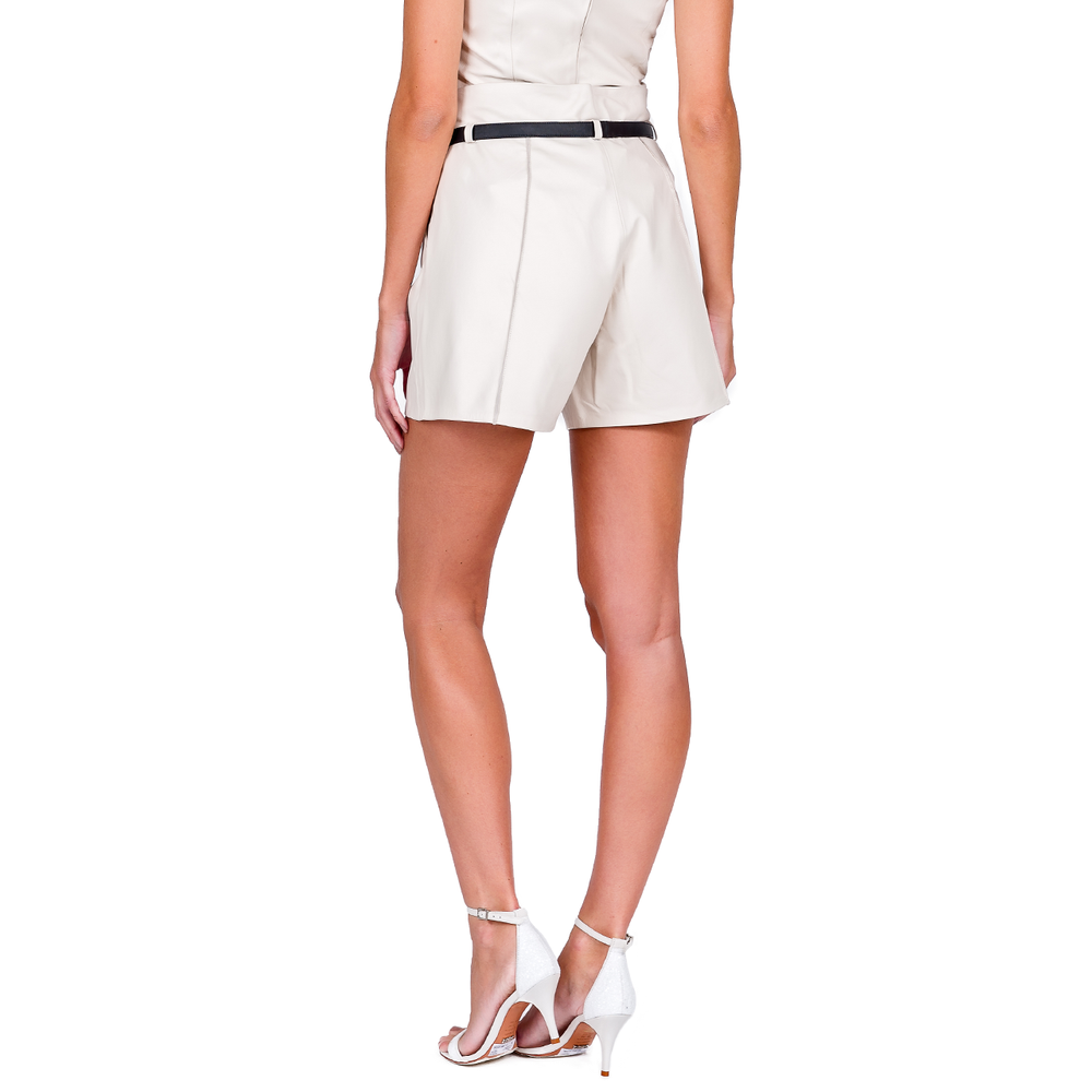 Short Clochard Cintura Alta Double Belt - Liziane Richter