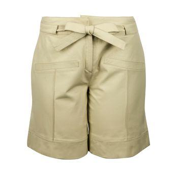 Shorts cós Alto em Couro Cru - Liziane Richter