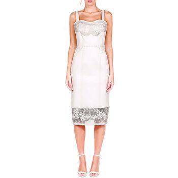 Vestido de Alça Com Detalhes em Laser e Tramados - Liziane Richter