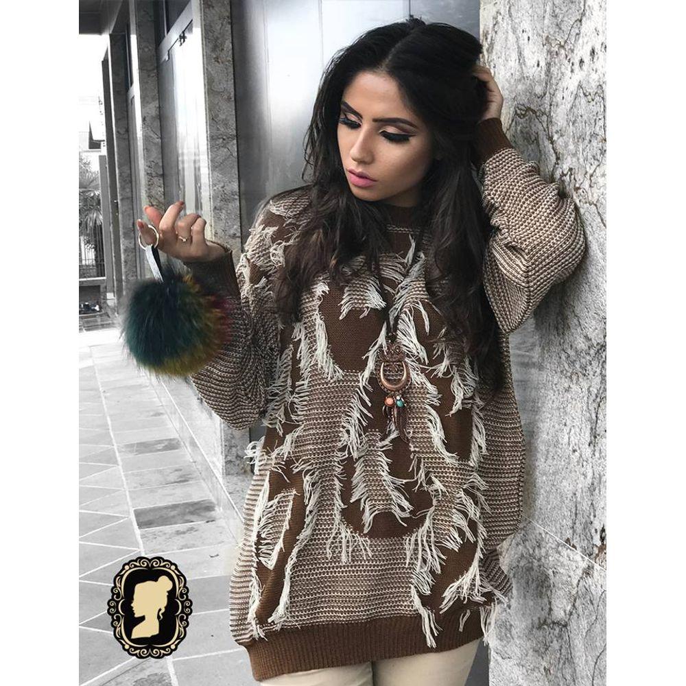 Blusa Fuzzy Franja 072IF17