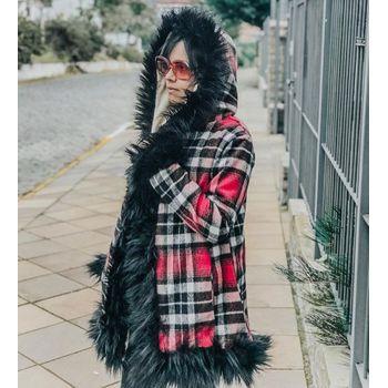Casaco Tweed c Capuz 107IF18
