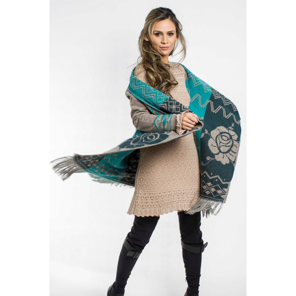 Poncho Flor Chic 095IF17