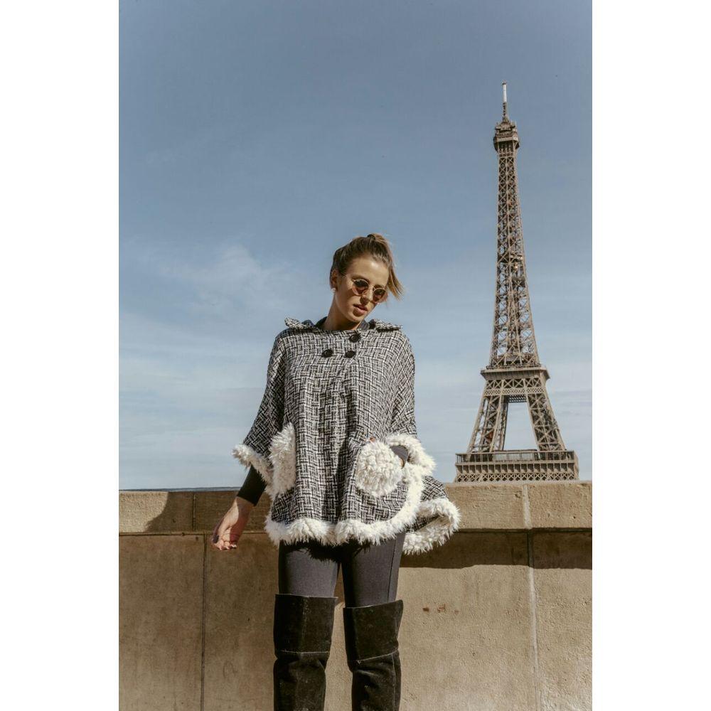 Poncho Tweed c Pele 008IF18