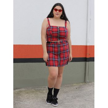 CROPPED XADREZ PLUS SIZE REIZZ